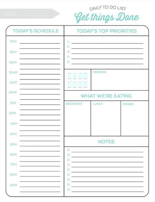 Daily To Do List from SimpleAsThatBlog.com