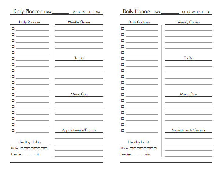 High Quality Update: A Seven Day Version Of This Planner Is Now Available! Within Free Download Daily Planner