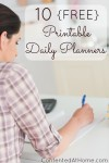 10 Free Printable Daily Planners