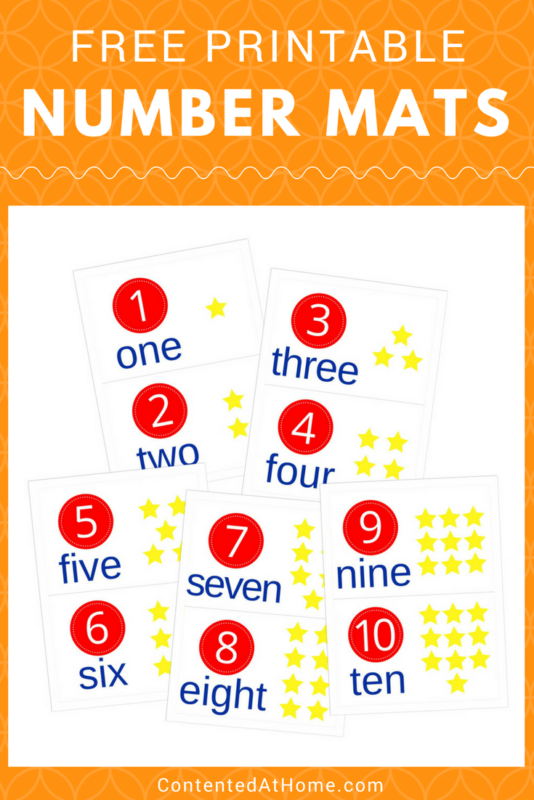Printable number mats for numbers 1-10