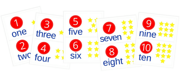 image relating to Free Printable Number Cards called Free of charge Printable Range Mats 1-10 Content at Property