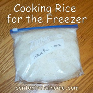 Cooking Rice for the Freezer