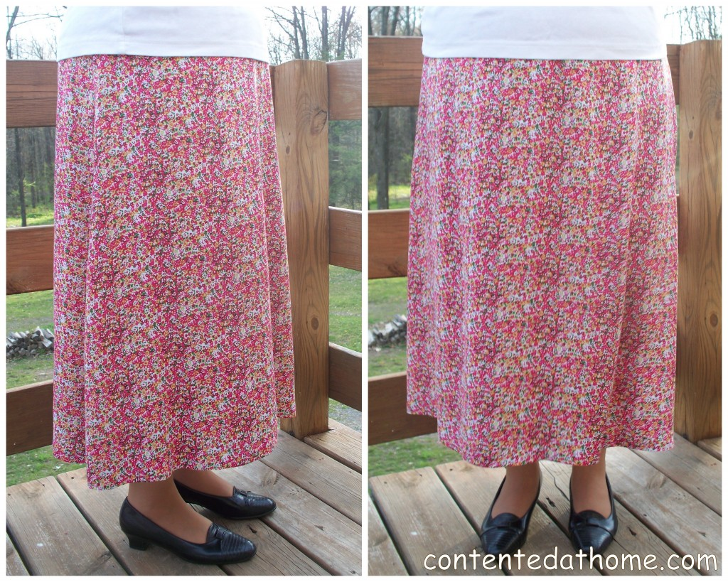 Fuschia Floral Skirt