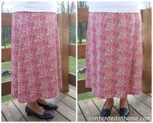 Fuschia Floral Skirt