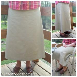 Khaki Twill Skirt