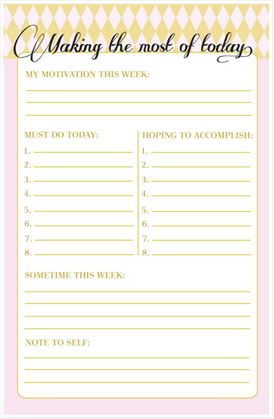 Daily planner from InHonorOfDesign.blogspot.ch