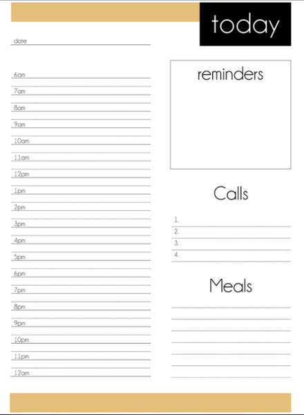 Free printable daily planner from DomesticMamma.com.au