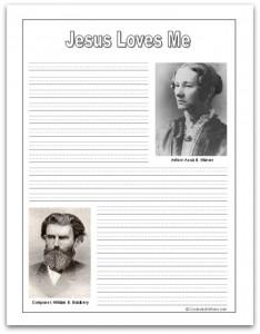 Jesus Loves Me Printables