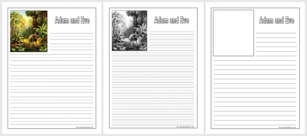 Adam and Eve Notebooking Pages