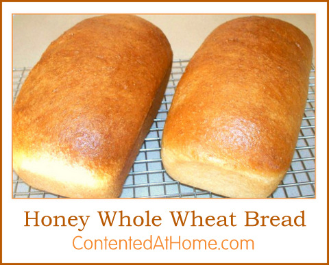 Honey Whole Wheat Bread | Contented at Home