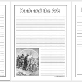 Noah and the Ark Notebooking Pages