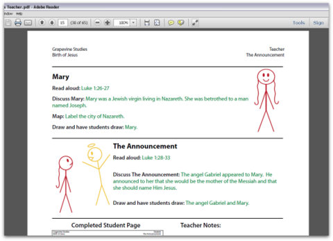 Birth of Christ Teacher Manual
