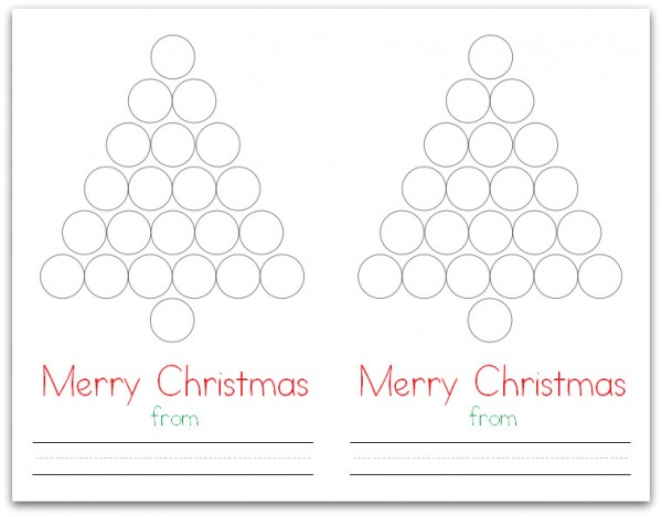Christmas Tree Do-a-Dot Card (Flat)
