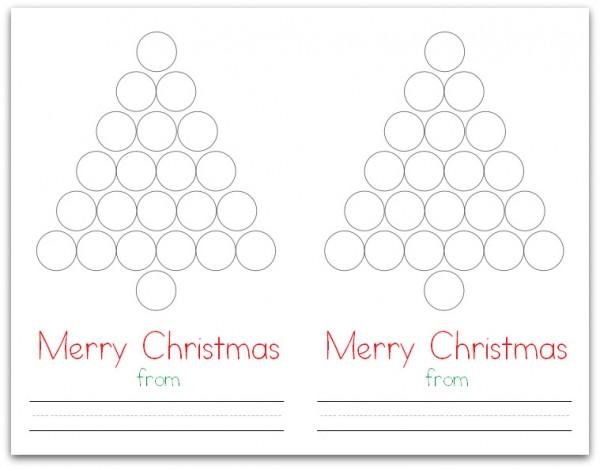 Christmas Tree Do-a-Dot Card (Flat)