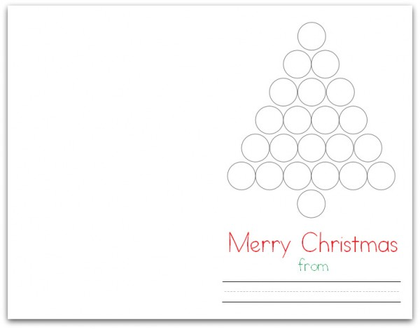 Christmas Tree Do-a-Dot Card (Folded)