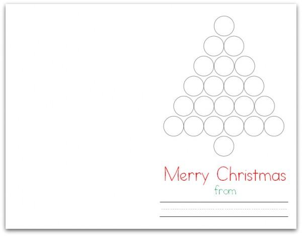 Christmas Tree Do-a-Dot Card (Folded)