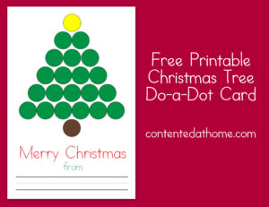 Free Printable Christmas Tree Do-a-Dot Card