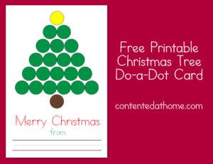 Free Printable Christmas Tree Do-a-Dot Card