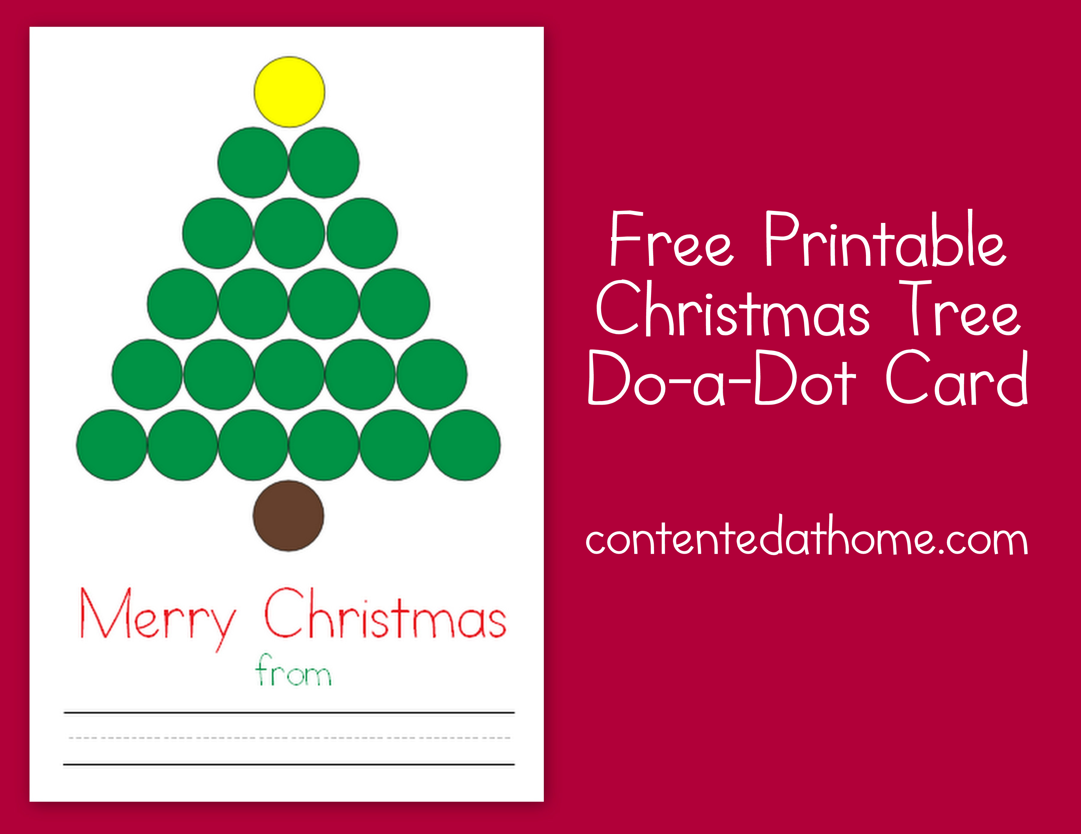 Christmas Tree Do-a-Dot Card | Contented at Home
