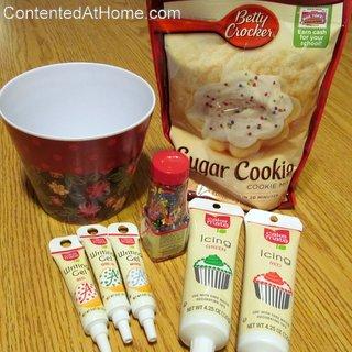 Making a Cookie Baking Gift Basket