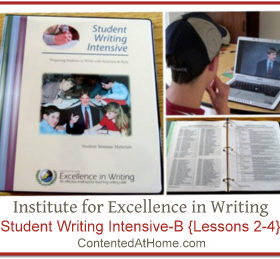 Continuing Writing Lessons with IEW