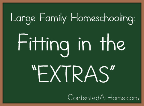 Large Family Homeschooling - Fitting in the Extras