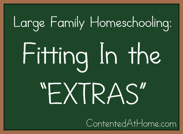 "Large Family Homeschooling: Fitting in the ""Extras"""