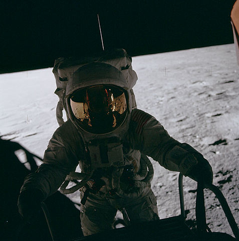 Pete Conrad on the Moon