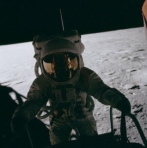 Pete Conrad on the Moon