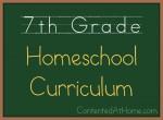 Seventh Grade Homeschool Curriculum {2013-2014}