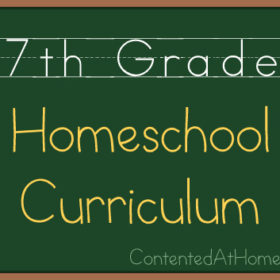 Seventh Grade Homeschool Curriculum {2013-2014}