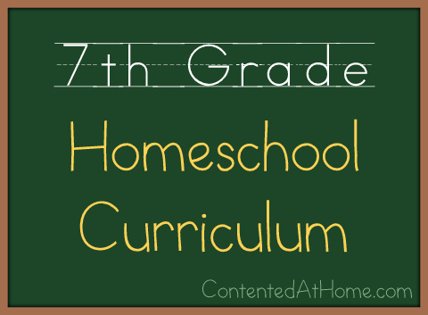 Seventh Grade Homeschool Curriculum