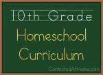 Tenth Grade Homeschool Curriculum {2013-2014}