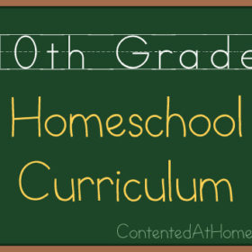 Tenth Grade Homeschool Curriculum {2013-2014}