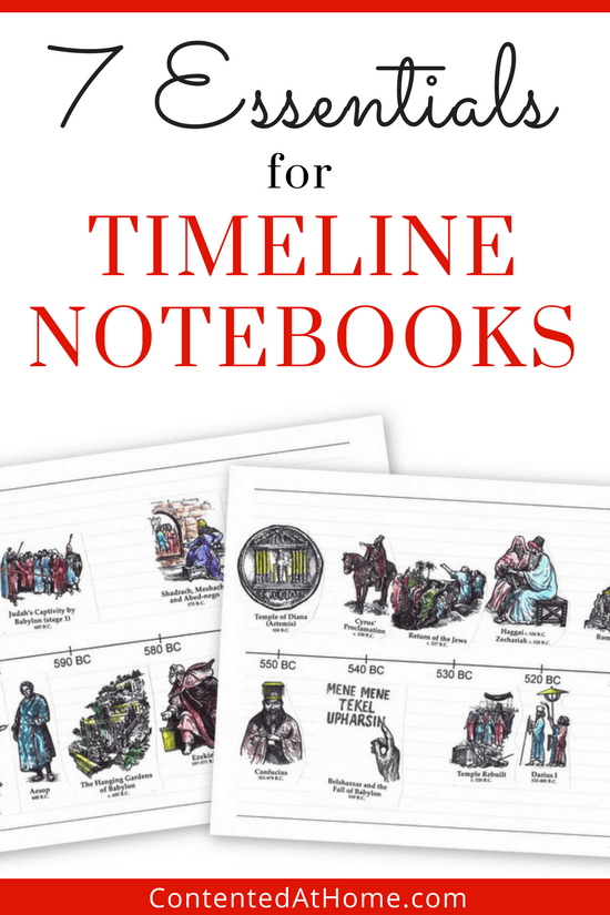 7 essential supplies to make a timeline notebook