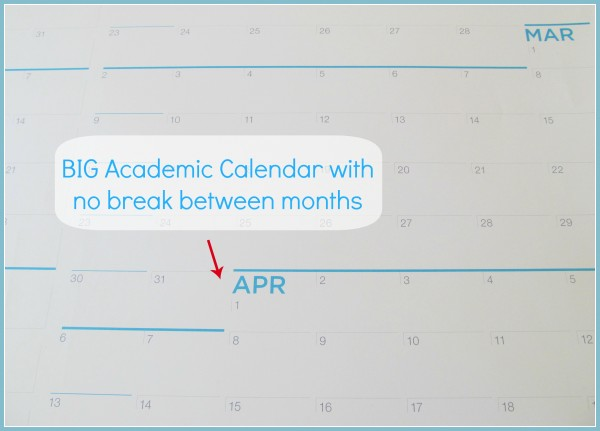 Close-up view of Big Academic Calendar from NeuYear