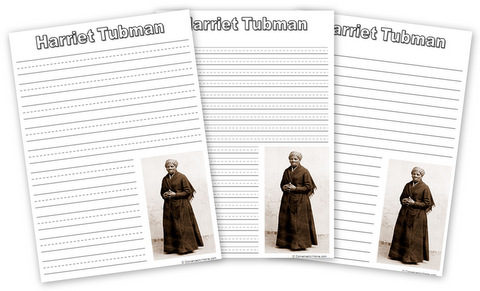 Free Harriet Tubman notebooking pages