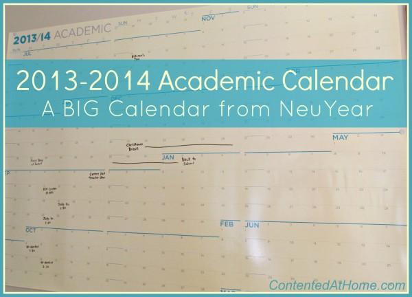 Big Academic Calendar from NeuYear