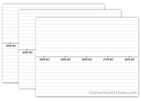 Free printable timeline notebook pages