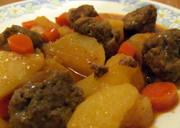 Hobo Meatball Stew