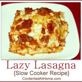 Lazy Lasagna {Slow Cooker Recipe}