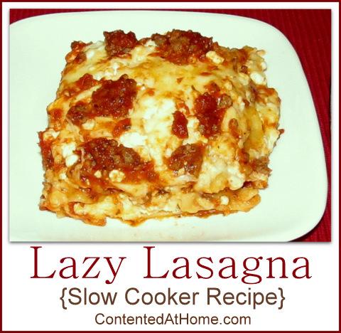 Lazy Lasagna {Slow Cooker Recipe} | @JudyHoch
