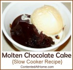 Molten Chocolate Cake {Slow Cooker Recipe}