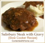 Salisbury Steak with Gravy {Slow Cooker Recipe}