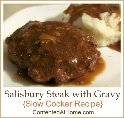 Salisbury Steak with Gravy {Slow Cooker Recipe} | @JudyHoch