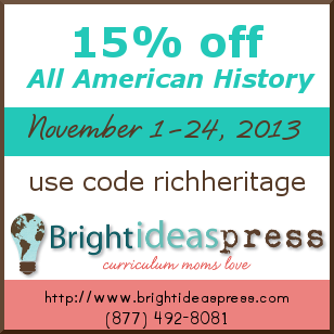 Save 15% on All American History products from @brightideasteam! (Bundles not included.)