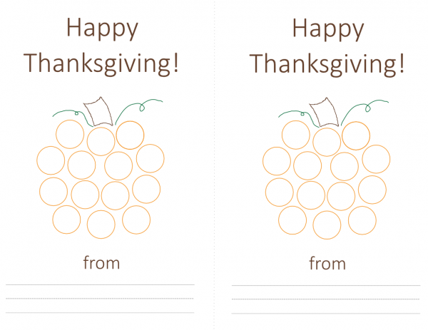 Free printable pumpkin do-a-dot card for early learners | Contented at Home