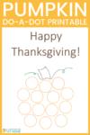Pumpkin do-a-dot printable