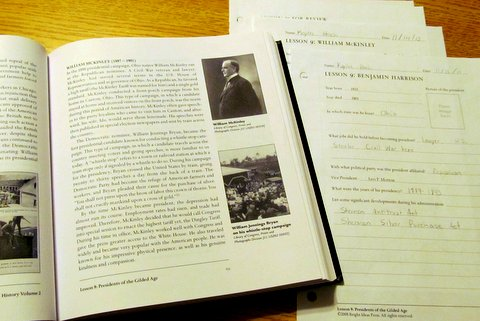 How we use All American History Vol. II - Lessons 9-12
