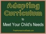 Adapting Homeschool Curriculum